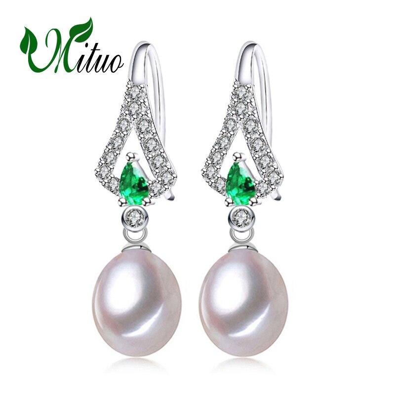 MITUO Emerald gyöngy fülbevaló ékszer, zöld drágakő - Finom ékszerek