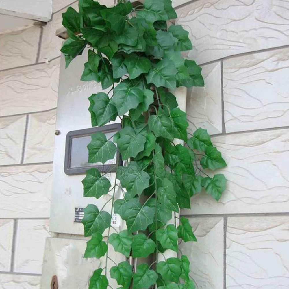 2M Artificial Ivy green Leaf Garland Plants Vine Fake Foliage Flowers Home Decor Plastic Artificial Flower Rattan string Outdoor