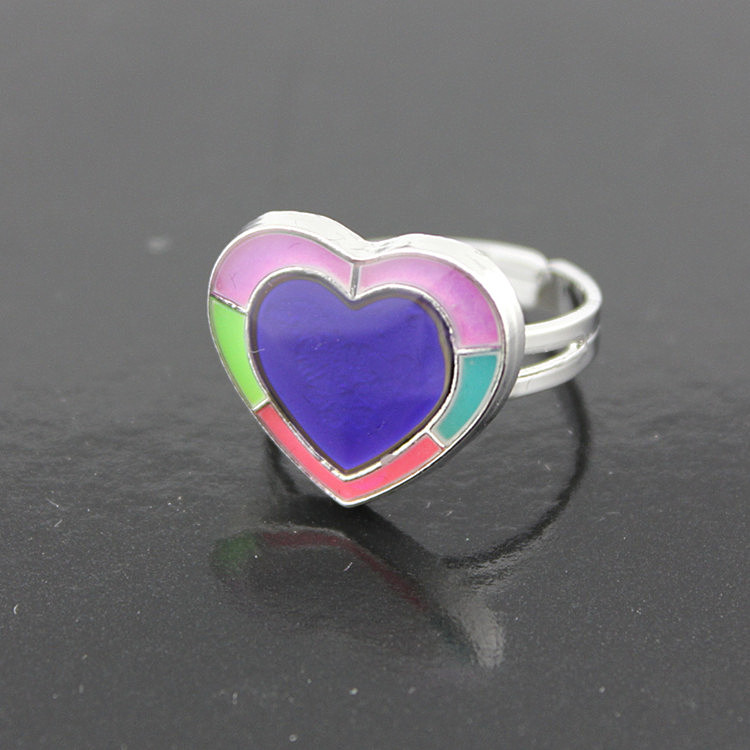 Glow In The Dark Rings Heart Glowing Jewelry Emotion Feeling Mood Rings Color Change Temperature Control Rings Black Friday 2016
