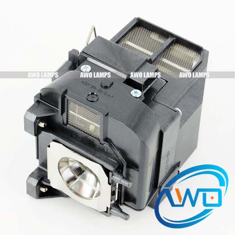 AWO High Quality Projector Lamp Replacement ELPLP75 V13H010L75 with Module for PowerLite 1940W 1945W 1950 1955 1960 1965 in Projector Bulbs from Consumer Electronics