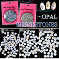 1440pcs/lot fashion flatback round opal rhinestones nail art stones