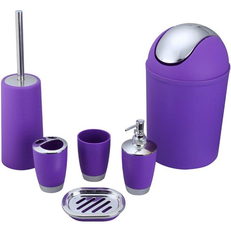 4 Pcs Colorful Salle de bains Accessoires Set Eco-Friendly Tumbler Porte-savon distributeur