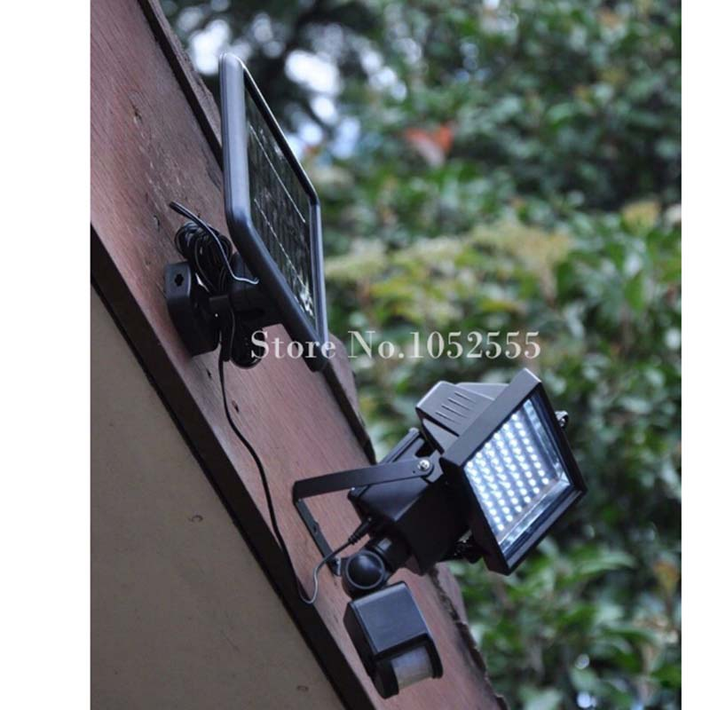 Hot Solar powered outdoor led Garden Light (60LED Lights Beads) project lamp PIR Body Motion Sensor Floodlights Spotlights Lamps hot sale beads