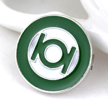Dongsheng DC Comics Green enamel Kerah Pin Bros bros Pin Superhero Green Lantern besar Emblem Badge-40(China)