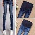 Джинсы беременным штаны для беременных Большой размер одежды беременности одежда синий беременных / беременным узкие джинсы беременным