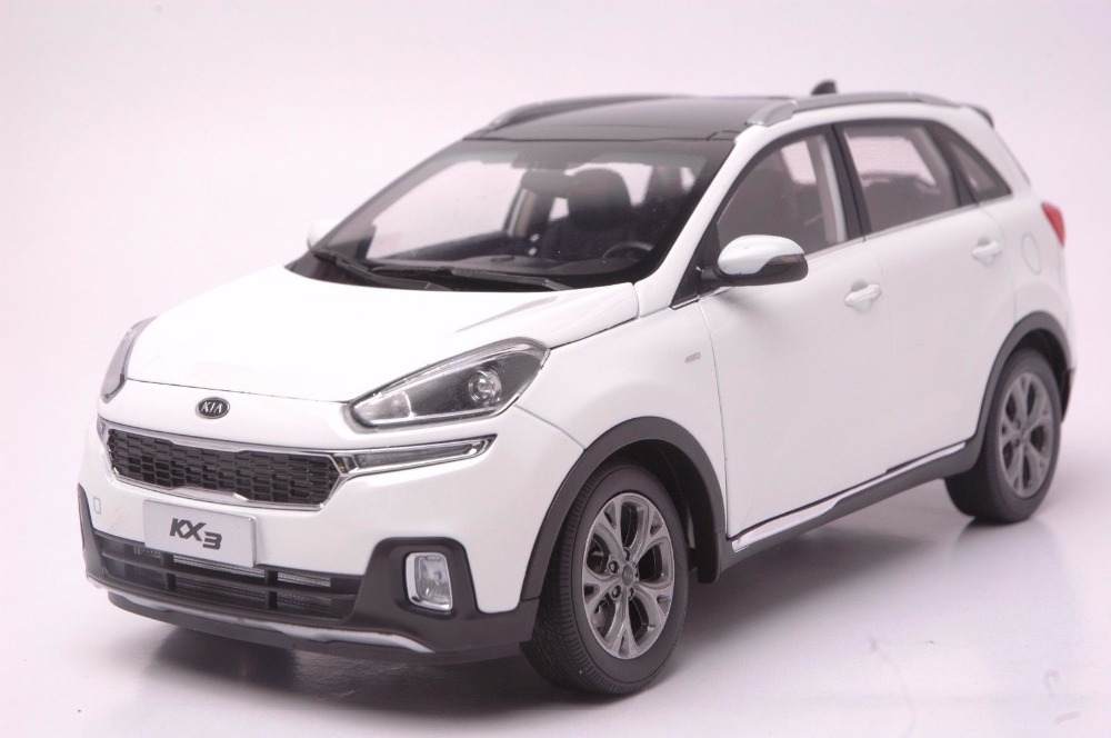 1:18 Diecast Model for Kia KX3 2016 White SUV Alloy Toy Car Miniature Collection Gifts 1 18 diecast model for isuzu mu x silver suv alloy toy car miniature collection gifts mux mu x