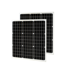2 pcs 18V 50W Monocrystalline Solar Module by Mono solar cell factory cheap selling 12V glass solar panel PV photovoltaic Pate