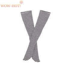 1 3 1 4 SD Bjd Stocking Doll Clothes Fashion Black and White Stripe Socks Elastic
