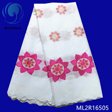 BEAUTIFICAL Dry Lace Fabric Voile Imitated African Cotton For Cloth 2019 Nigerian ML2R165
