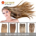 Brazilian Virgin Hair Straight Human Hair Extensions With Clips Full Head 23 Colors Available 100% Remy Human Hair Clip In Hair