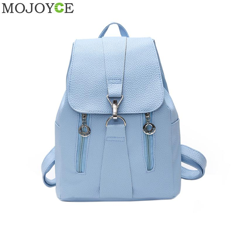 Women PU Leather Backpack Preppy Style School Bags Teenagers Girl Back Pack Casual Schoolbag Vintage Mochila Casual Rucksack New pu leather vintage backpack 2016 preppy style women backpack school bags for college teenagers girls women mochila feminina