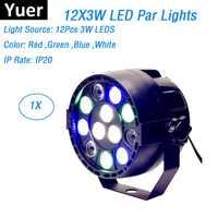 LED Par 12X3W RGBW LED luces de escenario LED Par luces con DMX512 perfecto para la etapa del proyector láser máquina de decoraciones de fiesta Disco