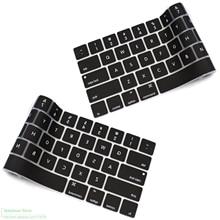 """Американский макет английский силиконовый чехол для клавиатуры Skinfor MacBook Pro retina 1"""" 15"""" с сенсорным ID и сенсорной панелью A1706 A1707"""