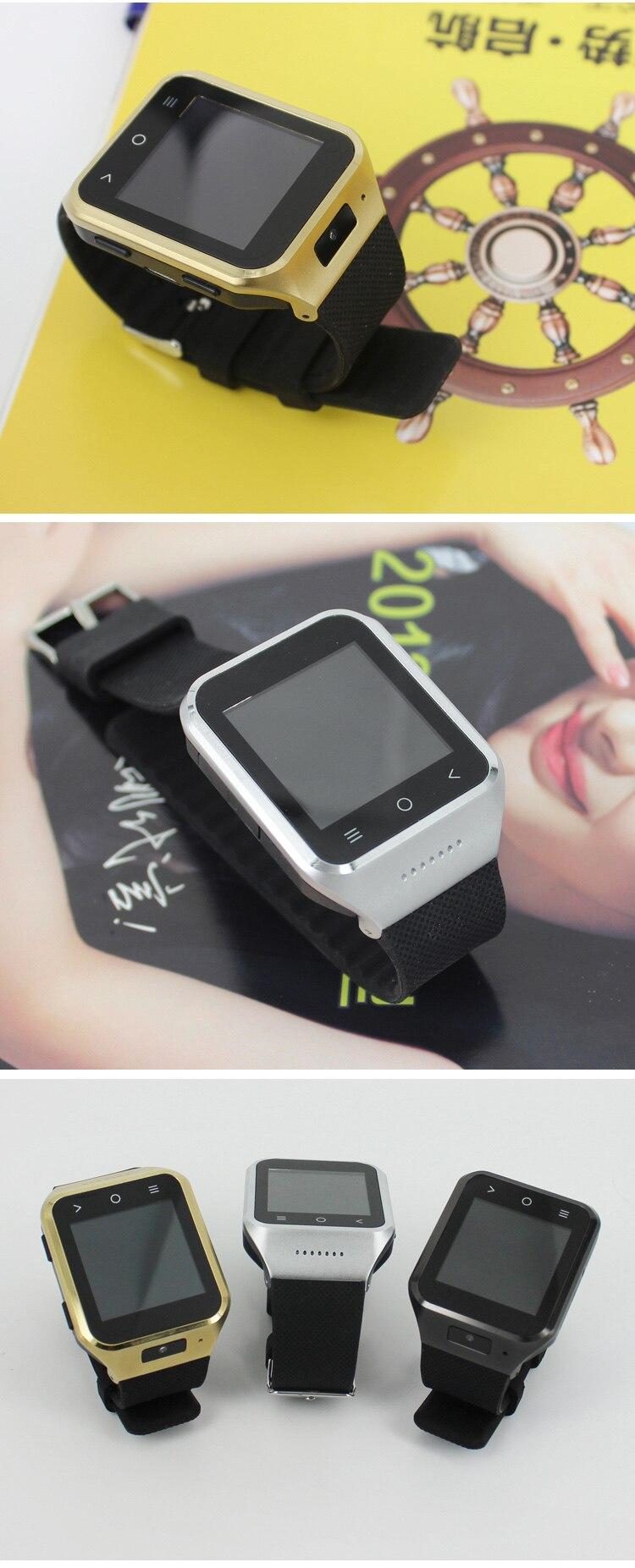 New Android Smart Watch Wrist watch MTK6572 Dual Core 4GB+8GB Rom 512MB Ram 1.54 inch 5.0MP Camera Wifi 3G GPS Smartwatch Phone