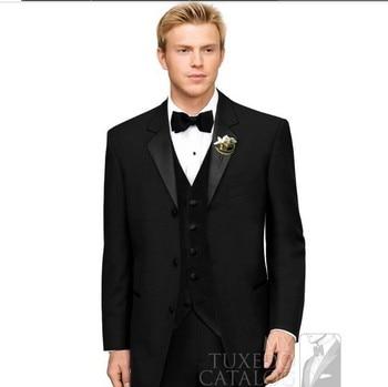 Groom Suit Black Groom Tuxedo Slim-Fit Groom Wear Custom Made Wedding Suits For Men,Mens Suits Wedding Groom 2015, Prom Suit