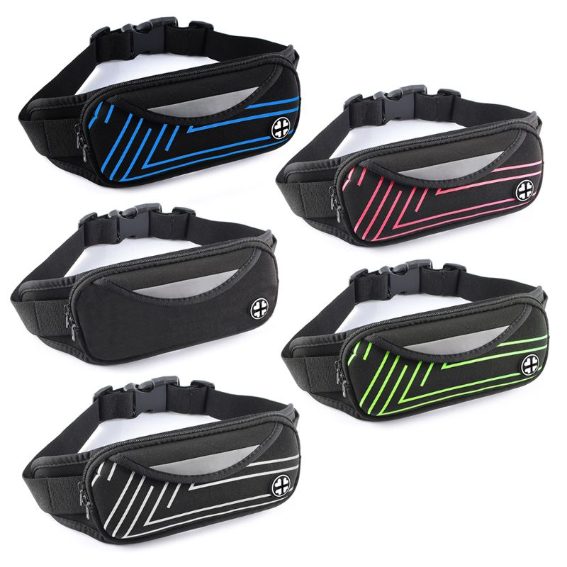 Professional Waterproof Sport Waist Bag With Earphone Cord Hole  Pouch Zip Fanny Pack Running Camping Hiking