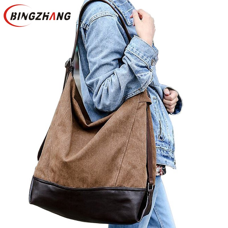 large capacity blast wave Korean special oversized shoulder bag Casual women canvas bag handbag New fall women handbags L4-781