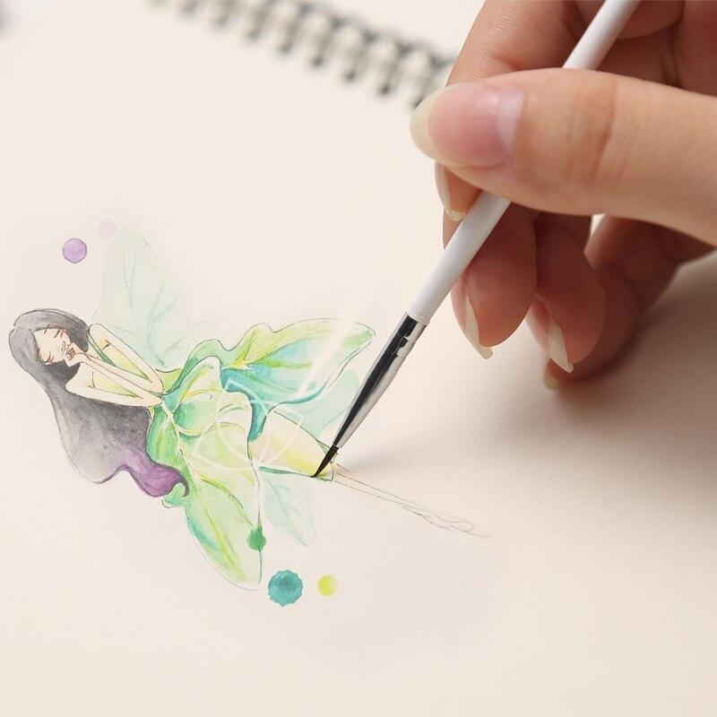High Quality Engraving Nail Art Brush Nail Art Painting Brush 3D Pen White Small size Liner Brush Nail Art Pen