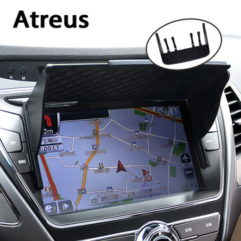 Atreus Universal5''/7'' Car GPS Sun Shade Visor Shield covers for VW polo passat b5 b6 Mazda 3 6 cx-5 Toyota corolla Ford focus image