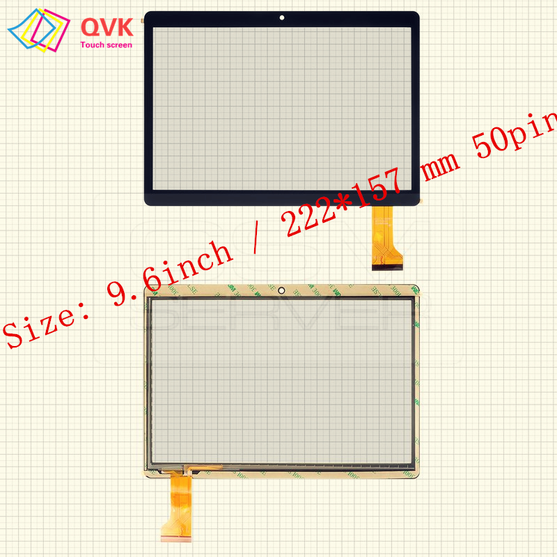 9.6 Inch P/N JJT105-1 CH-1069A4-PG-FPC264-V1.0 XLD90 MK096-419 FHX 0933-FPC RP-427A-9.6-FPC-A1 Touch Screen Free Shipping