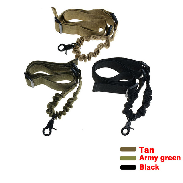Tactical Airsoft One Point Gun Sling single rifle strap sling with steel buckle