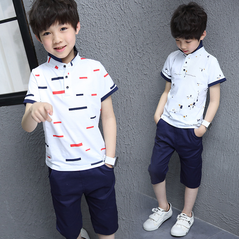 summer 2018 new 2 pcs sets boys cool cotton t shirts for kids shorts sets children clothing set kids sport suit for boys outfits