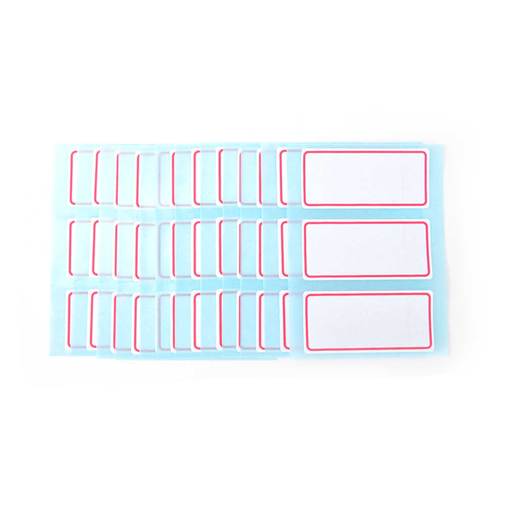 12sheets/pack  Self Adhesive Label Blank Note Label Bar Sticky White Writable Name Stickers New Arrival