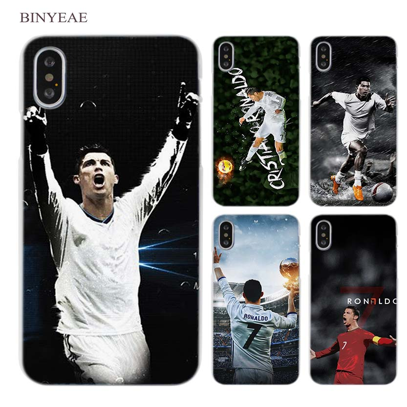 BINYEAE cr7 cristiano ronaldo soccer Clear Cell Phone Case Cover for Apple iPhone X 6 6s 7 8 Plus 4 4s 5 5s SE 5c