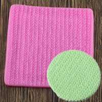 Pull tissu tricot Texture Biscuits en relief coussin décoration dentelle Mat outil Silicone moules Fondant gâteau décoration