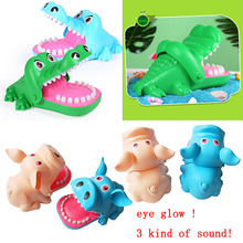 Big Practical Joke Biting Crocodile Mouth Teeth Bite Finger Bar Game Funny Gags Kids Children Adult Prank Electric Education Toy все цены