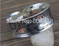 hot sell909403 10pcs New Tibet Silver Animal Carved Bangle Cuff Bracelet Jewelry
