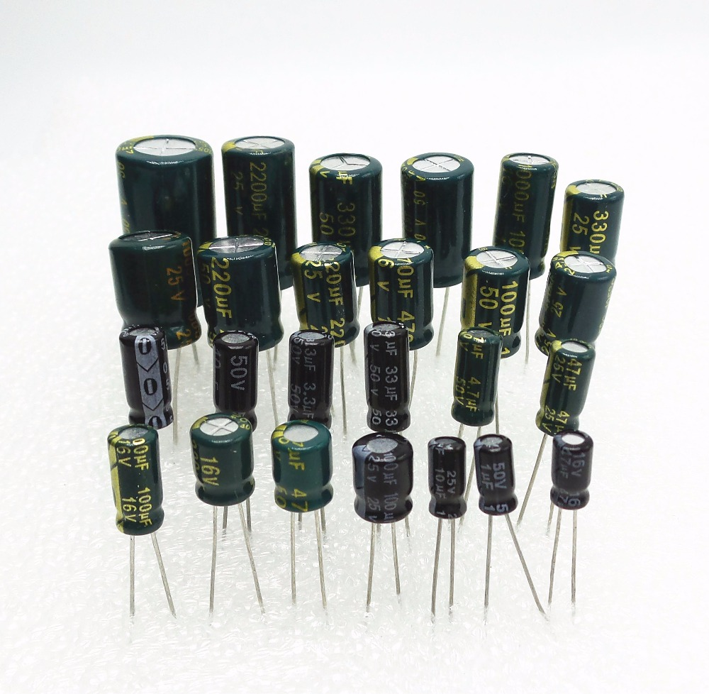 400V 0.22uF 2200uF Different Value Radial Electrolytic Capacitor LOW 6.3V