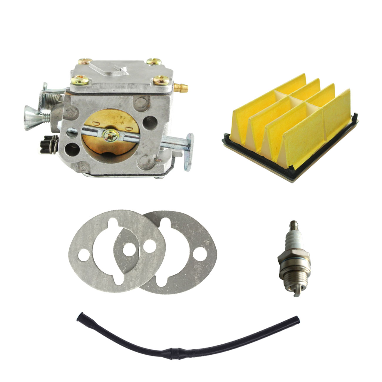 Carburetor & Fuel Line & Air Filter & Spark Plug To Fit HUSQVARNA 61 268 266 цена
