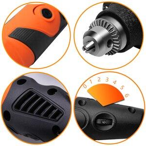 Image 3 - LOMVUM Elektrische Grinder Dremel Stil Mini Drill Rotary Werkzeuge Set 350W DIY Grinder 400W 6 Geschwindigkeit Schleif Werkzeug stecher Kit Welle