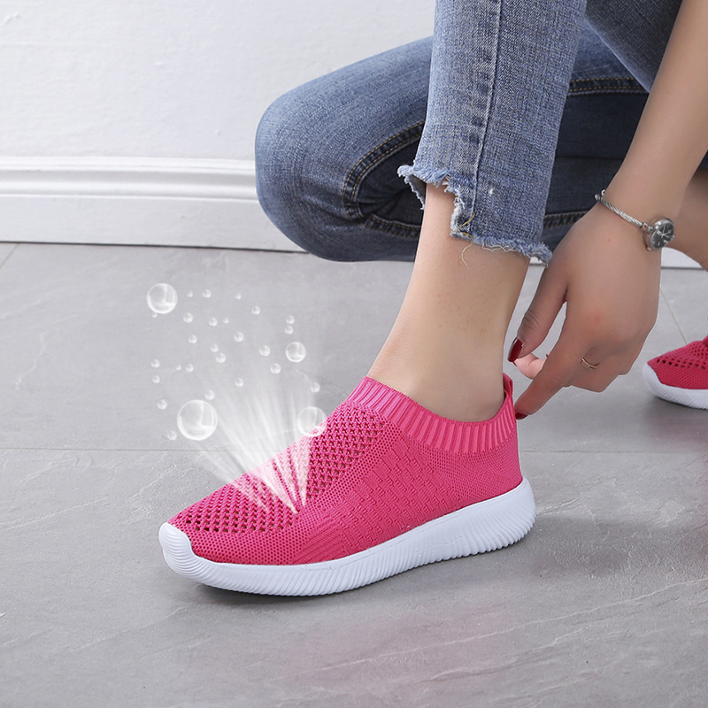 Breathable mesh sports casual sandals soft bottom hollow slip girls shoes comfortable fashion wild Couple women 39 s shoes size 43 in Middle Heels from Shoes