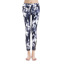 HYCOOL Women Yoga Pants Snowflake Zebra Printed Sport Leggings High Elastic Compression Gym Running Tights Jogging Fitness Pants