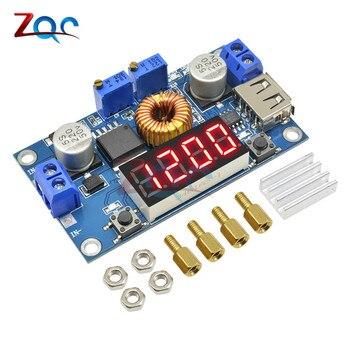Цифровой светодиодный модуль зарядного устройства для литиевой батареи, с USB разъемом, 5 А, CC/CV, понижающий преобразователь питания, тест на ток напряжения