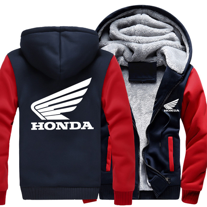 Winter Honda Hoodies Sweatshirt Team off-road Advertising Men Women Jacket HOODY Thickening Clothes Coats