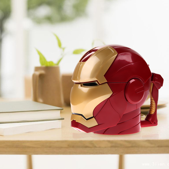 Kitchen Accessories Iron Man 3D Water Cup Black Eyes ABS Plastic High Quality Kitchen Drinkware Mugs for Kids Birthday Gift 2