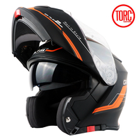 TORC Flip Up Helmet Vespa Capacete Motos Casco Motorcycle Helmet With Inner Sun Visor Double Lens