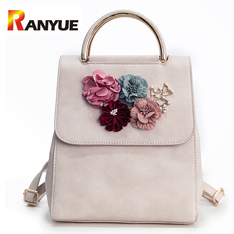 Fashion Women Floral Backpack For Teenagers Girls SchoolBag High Quality Leather Shoulder Bags For Women Mochila Feminina Bags fashion women leather backpack rucksack travel school bag shoulder bags satchel girls mochila feminina school bags for teenagers