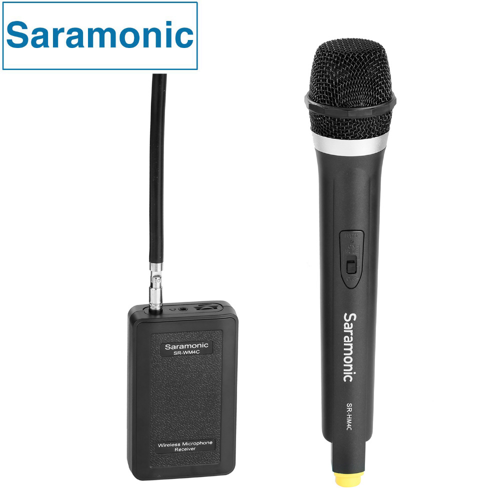 Saramonic WM4CA Professional Portable Wireless VHF Handheld Microphone System for DSLR Camera / Video Camcorder