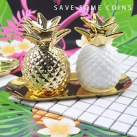 Home Decor Pineapple Pineapple Piggy Bank Botany Parlor Kid Bedroom Toy Small Ornament Figure For Home