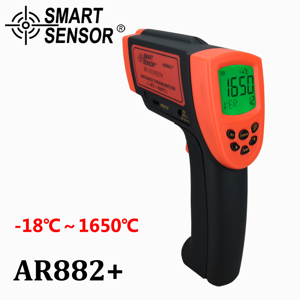 AR882 Digital thermometer non contact IR infrared thermometer Pyrometer with USB RS232 1650 C infrared temperature
