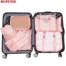 RUPUTIN 7PCS/Set Travel Mesh Bag In Suit
