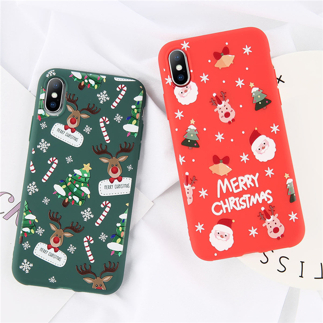 Santa Claus Pattern Phone Cases For iPhone