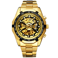 2017 Winner Watch Luxury Sport Designer Gold Skeleton Mechanical Watch Men Clock Stainless Wristwatches Relogio Masculino