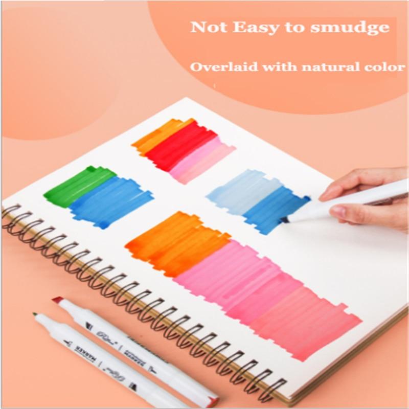 1 pcs A4 Marker Pad 50 Sheets Professional No Penetration Paper Drawing Album Sketchbook For Student Artists Art Supplies 4