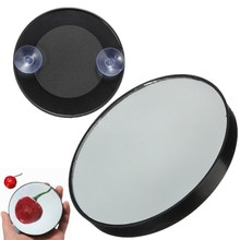 10x Magnifying 2 Suction Cup Makeup Mirror Mini Pimples Pores Round Hand Hold Make Up
