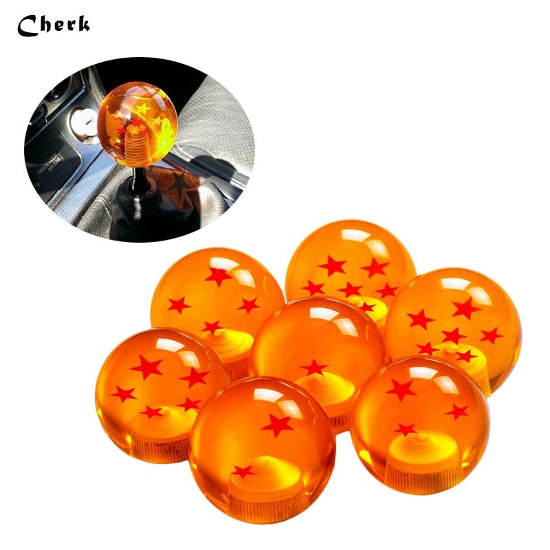 High Quality Hot Selling Universal Auto Dragon Ball Amber Orange Gear Shift Knob Red Stars Fashionable Car Accessories Styling universal orange